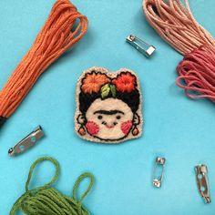 Frida Kahlo Embroidered Felt Brooch