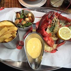 #offplan #birthday #lunch with daughter #lobster #fries to be honest I sent the first one back was tough and dry waiter brought another one within 5 mins which was better but in all honesty prob wouldn't come back...left most of the #chips too  bit annoying when you decide to have a #cheatmeal & it's not even that great. Come a long way though as before #sss90dayplan I'd have eaten it anyway! by eat_drink_sleep_repeat