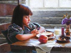 Saying Grace oil painting by Alfredo Rodriguez