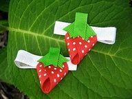 Strawberry Hairclips