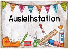 be a hero, be a teacher: Ausleihstation - Frances Thiessen - Organisation Too Cool For School, School Fun, Primary School, School Classroom, Classroom Decor, Teacher Comments, Kindergarten Portfolio, School Organisation, Home Schooling