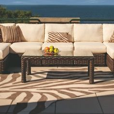 Contempo Armless Sectional More than 100 years of American tradition, furniture knowledge, and state-of-the-art manufacturing goes into each piece of Lloyd Flanders furniture. #lloydflanders #furniture #design #exteriors #exteriorhomescapes #exteriorhomescapes.com