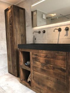 bathroom ideas remodel is utterly important for your home. Whether you pick the bathroom demolition or bathroom remodel beadboard, you will create the best bathroom remodel shiplap for your own life. Small Bathroom Storage, Bathroom Design Small, Bathroom Wall, Bathroom Interior, Bathroom Ideas, Pallet House, Container House Plans, Western Decor, Amazing Bathrooms