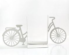 Bookends My white bike FREE SHIPPING by DesignAtelierArticle