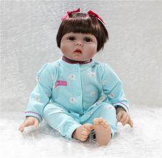 "76.57$  Watch here - http://aliyfl.worldwells.pw/go.php?t=32720850288 - ""22"""" bebe realista doll reborn soft Body Silicone reborn baby girl princess dolls best gift for children brinquedo menina bonecas"" 76.57$"