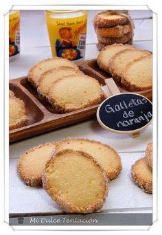 Galletas de naranja Coconut Cookies, Healthy Cookies, Fun Cookies, Cupcake Cookies, Cookie Desserts, Cookie Recipes, Mexican Food Recipes, Sweet Recipes, Pan Dulce