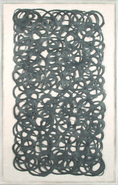 Artwork: 27 x 43 Abstract Paper Grey | Natural Curiosities