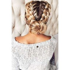 63 Amazing Braid Hairstyles for Party and Holidays ❤ liked on Polyvore featuring hair, hairstyles, braids, beauty and blond