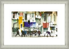'Christmas Party' by Sue Howells. High Quality Reproduction Framed Print finished with glass panel & expertly framed by Spires Art framing team. Size: 14in X 18in