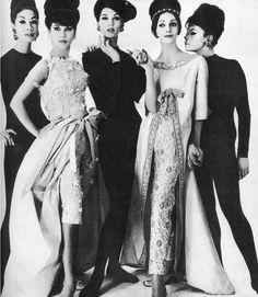 Fashion Dior 1960's Models ........,Victoire Doutreleau, Simone d'Aillencourt, Anne St Marie ......