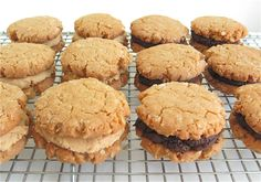 Peanut Butter-Oatmeal Sandwich Cookies: With your choice of peanut butter filling or fudge filling.