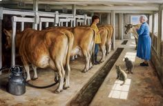 """The cow is of the bovine ilk; one end is moo, the other milk."" - Ogden Nash, Free Wheeling (art by Robert Duncan)"