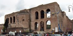 Roman Forum | Basilica Maxentius (Basilica Nova), Roman Forum,306- 12  It was begun by Maxentius in 306 AD and completed by Constantine.