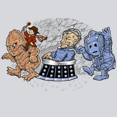 Who The Wild Things Are 4 T-Shirt $12 Doctor Who tee at Blue Box Tees!