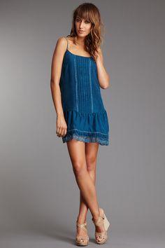 Subtle Luxury, Spun & Glam Vintage Soul Glam Vintage Soul Drop Waist Silk Tank Dress $48.00