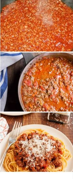 Bolognese sauce for noodles Pasta Recipes, Beef Recipes, Cooking Recipes, Healthy Recipes, Mexican Food Recipes, Italian Recipes, Sauce Bolognaise, Spaghetti, Deli Food