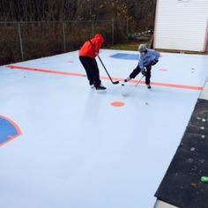backyard rink, backyard synthetic ice rink, backyard ice rink