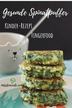 Fast spinach pancakes - finger food for children ⋆ Miss Broccol .- Fast spinach pancakes – finger food for children ⋆ Miss Broccoli - Lunch Recipes, Baby Food Recipes, Vegetarian Recipes, Healthy Recipes, Fast Recipes, Family Meals, Kids Meals, Easy Meals, Spinach Pancakes