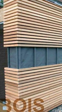 Cladding clear-way in thermopin on a cabin extension .- Bardage claire-voie en thermopin sur une extension de cabinet médical – Salvabrani Thermopin skylight on a medical office extension siding – Salvabrani – Architecture Designs - Architecture Design, Farmhouse Architecture, Carport Garage, Pergola Carport, Diy Pergola, Pergola Plans, Pergola Ideas, House Cladding, Timber Cladding