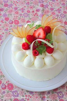 Japanese Cake デコレーションケーキ 花柄2