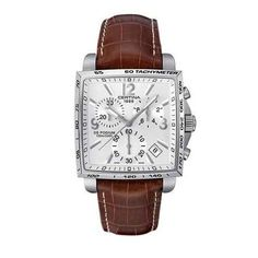 Certina DS Podium Square Chronograph Leather Strap Watch