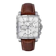 Certina DS Podium Square Chronograph Leather Strap Watch
