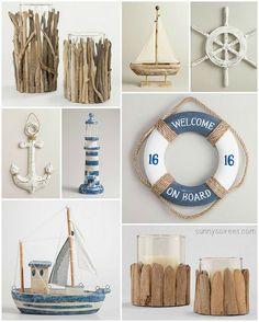 Driftwood and nautical decor ideas
