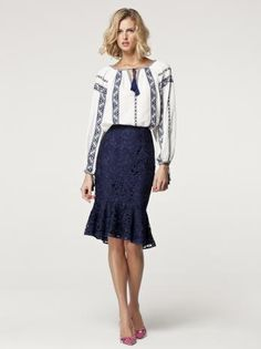 The Romanian blouse by Carolina Herrera SS 2013