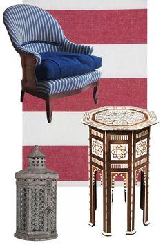 L'Hotel Marrakech Style Furnishings Jasper Conran, Moroccan Design, Hotel Reviews, Marrakech, Room Interior, Morocco, Armchair, Elegant, Antiques