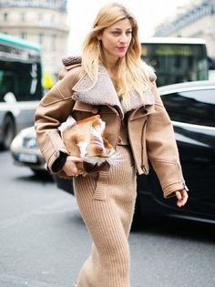 possibly the greatest use of neutrals & knits ever. Ada in Paris. #AdaKokosar