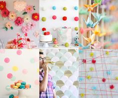 Simple DIY backdrops - links to tutorials @ Mollie Makes