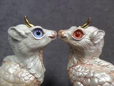Windstone Editions * Albino Baby Ki-Rin w/Pink Eyes* Kirin Unicorn Figurine | eBay