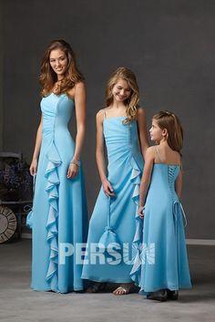 21e81ef04f8b Increspatura Con Perline Spaghetti Tubino Abito da Damigella - Persunit.com  Kids Party Wear Dresses