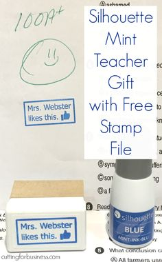 Silhouette Mint Teacher Gift Facebook Parody Stamp by cuttingforbusiness.com