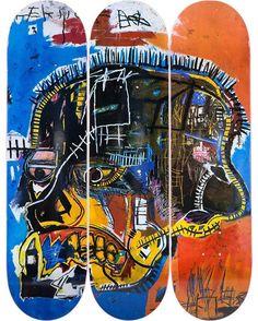 """In occasione della mostra """"Jean-Michel Basquiat"""" al #Mudec #Milano disponibile in esclusiva italiana, dal 27 ottobre presso il Design Store, la linea personalizzata #Basquiat delle tavole da skate The Skateroom #BasquiatMudec"""