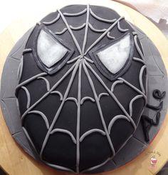 Black Spiderman Cake