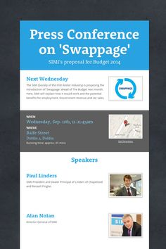 Press Conference on 'Swappage' next Wed 11th Sept at the #Westbury Hotel Dublin 11am