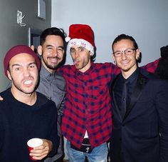 Pete Wentz from Fall Out Boy, Jared Leto from Thirty Seconds to Mars and Mike Shinoda & Chester Bennington from Linkin Park