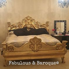 King Arthur gold bed!@fabulousandbaroque  #baroquestyle #baroque #boudior #fabulousandbaroque  #rococo #frenchfurniture  #picoftheday #beautiful #anothersatisfiedcustomer #copyright #baroquebed #gold #goldfurniture #interiordesign #nofilter #prettybed #pretty #youknowyouwantit #designerfurniture #interior #interiors #statementpiece #instadecor #losangeles #chicago #miami #nyc #austin #seattle #kingarthur
