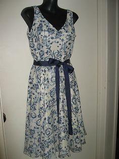 #dianaferrari blue and white dress