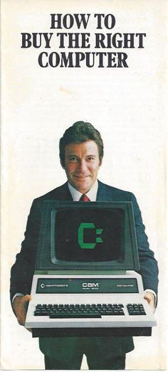 William Shatner advert for Commodore Computers