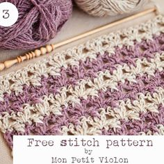 New Free stitch pattern today on the blog!   Www.monpetitviolon.com