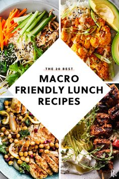 20 Lunch Recipes That Are on the Macro Diet purewow lunch macro diet healthy diet recipe easy food 439593613629901055 Healthy Lunches For Work, Healthy Diet Recipes, Lunch Recipes, Healthy Eating, Healthy Food, Work Lunches, Recipes With Macros, Clean Eating, Recipes Dinner