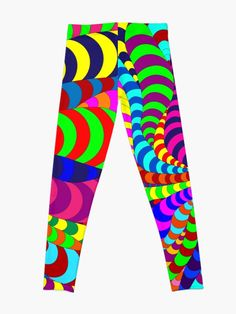 Buy 'Snake Spider' leggins by Notsundoku | Redbubble #patterns #doodles #zenart #stripes #squiggles #notsundoku #Redbubble #leggings #clothes #comfortwear #brightenupourlife #brightcolors #brightcolours