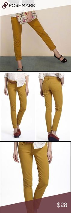 🍋 Anthropologie Pilcro Mustard Yellow Jeans Sz 30 Anthropologie Pilcro & The Letterpress Mustard yellow jeans. PERFECT CONDITION! Great stretchy material that gives a very flattering fit! Anthropologie Jeans Straight Leg