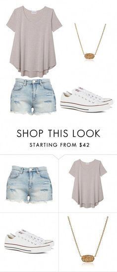 ee6bd066a31 Summer teen outfit by jillianmoreland ❤ liked on Polyvore featuring  BLANKNYC