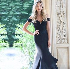 Fade to black .Shop or rent this favorite in store. We're here all day, ladies! Pageant Gowns, Prom Dresses, Formal Dresses, Fade To Black, Black Tie, Gowns For Rent, New Designer Dresses, Off Shoulder Gown, Military Ball Dresses