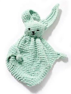 Free Knitting Pattern - Children's Toys & Dolls: Bunny Blanket Buddy