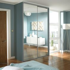 Sliding Mirrored Wardrobes.