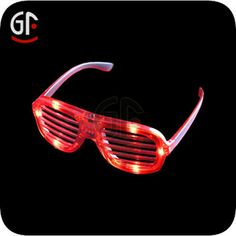 Glow Red Shutter Shade Sunglasses, View Shutter Shade Sunglasses, GF Product Details from Shenzhen Greatfavonian Electronic Co., Ltd. on Ali...